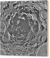 South Pole Of Moon  Wood Print