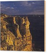 South Rim Grand Canyon Taken Near Mather Point Sunrise Light On  Wood Print