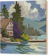 South Shore Big Bear Lake Wood Print