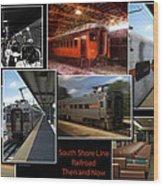 South Shore Line Railroad Collage Wood Print
