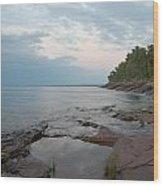 South Shore Of Lake Superior Wood Print