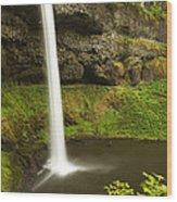 South Silver Falls 3 Wood Print