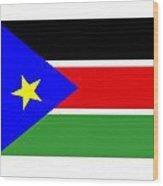 South Sudan Flag Wood Print