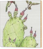 South Texas Nopales For Breakfast Wood Print