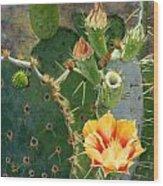 South Texas Prickly Pear Wood Print
