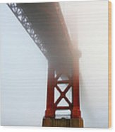 South Tower Fog Wood Print