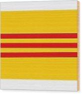 South Vietnam Flag Wood Print
