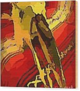 South Western Style Art With A Canadian Moose Skull  Wood Print by John Malone