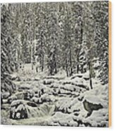 South Yuba River Wood Print