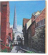 Southampton Blue Anchor Lane Wood Print