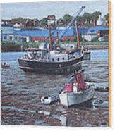 Southampton Northam Boats Wood Print