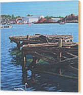Southampton Northam River Itchen Old Jetty With Sea Birds Wood Print