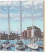 Southampton Ocean Village Marina Wood Print