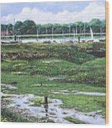 Southampton River Hamble Wood Print