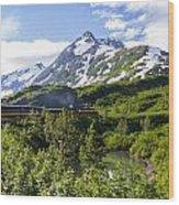 Southbound Alaska Railroad  Wood Print