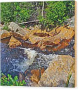 Southeast Brook Above Falls In Gros Morne Np-nl Wood Print
