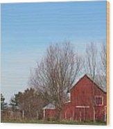 Southeast Red Barn Wood Print