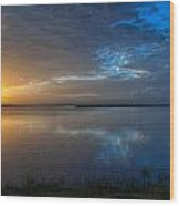 Southeast Texas Sunrise Wood Print by Tammy Smith