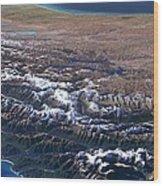 Southern Alps, New Zealand, 3d Artwork Wood Print