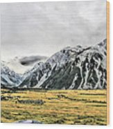 Southern Alps Nz Wood Print