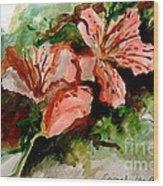Southern Azalea In New Orleans Wood Print