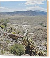 Southern California Desert Landscape Wood Print