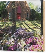 Southern Church In Bloom Wood Print