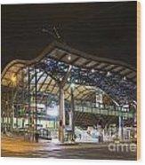 Southern Cross Rail Station In Melbourne Australia Wood Print