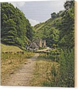 Southern End Of Wolfscote Dale Wood Print