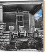Southern Front Porch 1 Wood Print