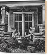 Southern Front Porch 2 Wood Print