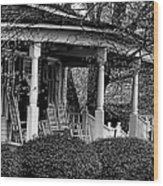 Southern Front Porch 4 Wood Print