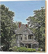 Southern Home Wood Print by Beverly Hammond