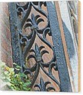 Southern Ironwork Wood Print