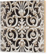 Southern Ironwork In Sepia Wood Print