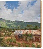 Southern Kenya Poverty Landscape Wood Print