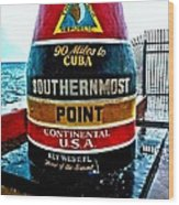 Southern Most Point Wood Print