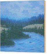 Southern Oregon Waters Wood Print