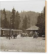 Southern Pacific Depot At Brookdale Santa Cruz Co. Cal. Circa 1910 Wood Print