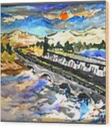 Southern River Dam Wood Print