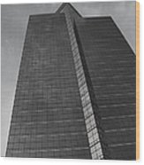 Southfield Hi Rise Black And White Wood Print by Bill Woodstock