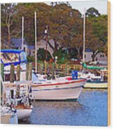 Southport Watercolor Wood Print by Garland Johnson