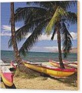 Southside Of Maui Wood Print