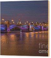 Southwark Bridge Wood Print by Pete Reynolds