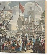 Southwark Fair, 1733, Illustration Wood Print