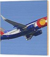 Southwest Boeing 737-7h4 N230wn Colorado Phoenix Sky Harbor December 22 2014 Wood Print