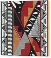 Southwest Collection - Design Seven In Red Wood Print