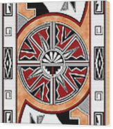 Southwest Collection - Design Six In Red Wood Print