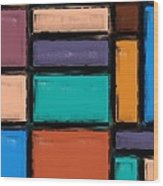 Southwest Home And Garden Color Block Wood Print