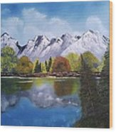 Southwest Mountain Reflections Wood Print